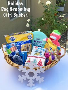 Pink and purple girl puppy welcome basket gift handmade by holiday dog grooming gift basket step by step tutorial with pictures negle Images