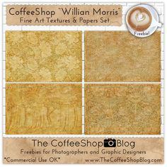 "The CoffeeShop Blog: CoffeeShop ""William Morris"" Fine Art Texture and P..."