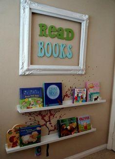 wandregale bilderrahmen ideen für leseecke im kinderzimmer einrichten