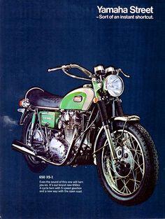 1970 Yamaha 650 XS-1 motorcycle ad