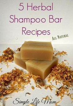 5 Natural, Organic Herbal Shampoo Bar Recipes using herbs and essential oils to . - - 5 Natural, Organic Herbal Shampoo Bar Recipes using herbs and essential oils to make cold process shampoo bars for all hair types. Soap Making Recipes, Bar Recipes, Noodle Recipes, Shampoo Diy, Shampoo Natural, Organic Shampoo, Natural Soaps, Homemade Shampoo Recipes, Homemade Deodorant