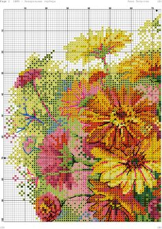 Фотография Cross Stitch Embroidery, Cross Stitch Patterns, Crochet Patterns, Cross Stitch Flowers, Crafts To Make, Needlepoint, Needlework, Stitching, Cross Stitch