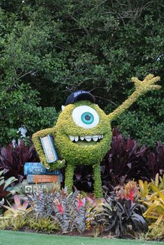 Mike from Monsters U Epcot Flower and Garden Show Walt Disney World