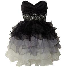 Lipsy V I P Prom Embellished Dress ❤ liked on Polyvore