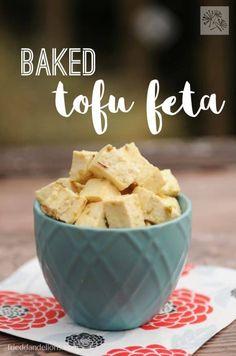 fried dandelions // baked tofu feta