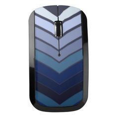 Multicolored Blues Chevrons on Mouse Wireless Mouse