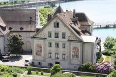 Building with frescoes in Rapperswil Switzerland