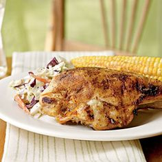 Quick Barbecue Chicken. Instead of marinating or basting, simply rub the chicken breasts with a spice mixture of chili powder, cumin, ginger, cinnamon, and black pepper and put them on the grill.