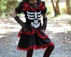 Halloween: Vestido Caveira Mexicana Luxo