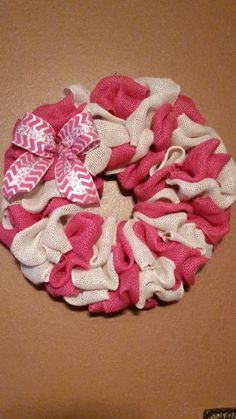 Breast Cancer Awareness Ribbon Wreath