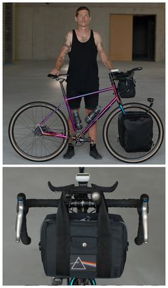 E rides a large AWOL frame named The Transcontinental Grace coated with the…