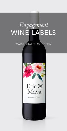 Finish off your gorgeous table scape with a custom wine label for your wedding! Each can be personalized to your names and wedding dates. Simply soak your wine bottles in hot water, peel off the labels, and adhere the new ones!