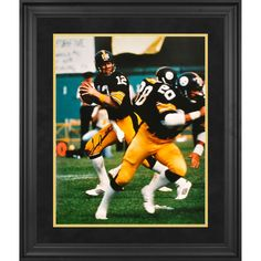 Terry Bradshaw Pittsburgh Steelers Fanatics Authentic Framed Autographed 16'' x 20'' Drop Back Photograph - $319.99