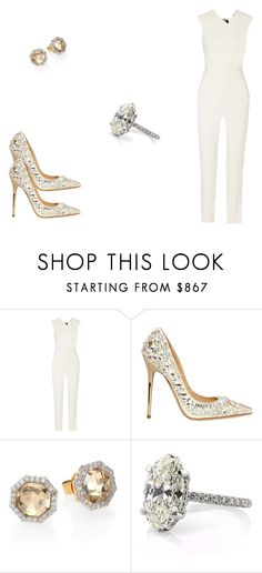 """126 outfit"" by julieannbb13 ❤ liked on Polyvore featuring Roland Mouret, Jimmy Choo and Phillips House"