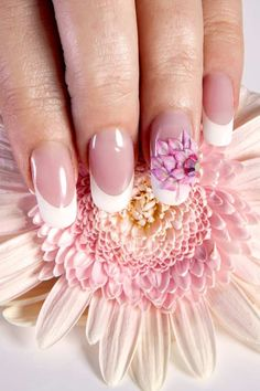 Flower Acrylic Nails - In the article: Natural-like long nails Nail Designs 2014, Creative Nail Designs, Beautiful Nail Designs, Cute Nail Designs, Beautiful Nail Art, Creative Nails, Beautiful Pictures, Really Cute Nails, Pretty Nails