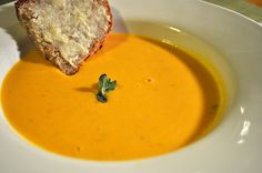 Slow Cooker Butternut Squash Soup - Best fall soup!  Delicious!  www.getcrocked.com
