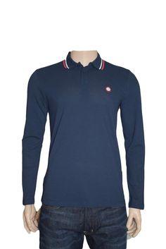 Pretty Green Long Sleeve Cotton Polo Shirt Navy Medium BNWT Liam Gallagher #PrettyGreen #PoloShirts