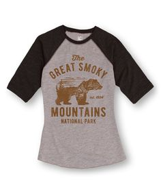 Love this LC Trendz Athletic Heather & Heather Black 'Smoky Mountains' Raglan Tee by LC Trendz on #zulily! #zulilyfinds