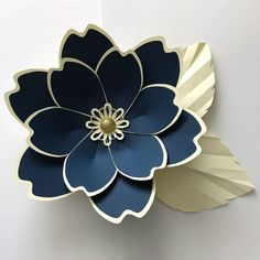 Paper Embroidery Ideas SVG Petal 100 Paper Flower Template Digital Version The