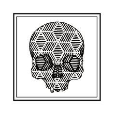 Geometric skull design by artist Emily Geiger. -tattoo ideas -gift ideas Buy prints here- https://www.etsy.com/listing/210440844/geometric-skull-print