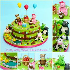 Cake Tutorials - Cake Tutorials Suzi Witt's Farm Yard cake is now up on the Online Tutorials here www. Farm Birthday Cakes, Animal Birthday Cakes, 2nd Birthday, Farm Animal Cupcakes, Farm Cake, Cake Online, Cake Business, Cake Decorating Techniques, Decorating Supplies