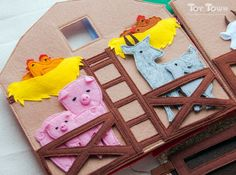 Развивающие книжки и игрушки из фетра Toy Town