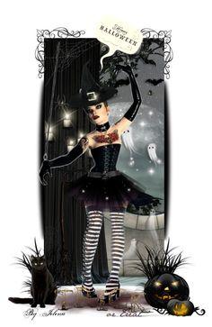 """Happy Halloween!"" by jelenalazarevicpo ❤ liked on Polyvore featuring art"