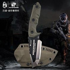 HX OUTDOORS - fixed blade tactical knives with sheath,Tanto Blade outdoor survival knife,Special forces tactical knife,Ergonomics G10 anti-skidding Handle MERCENARIES - MINI - Warehouse Wise