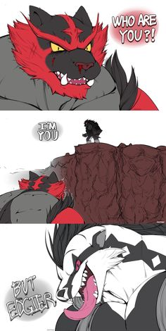 Obstagoon and Incineroar have the same energy - Poke Ball Pokemon Incineroar, First Pokemon, Pokemon Comics, Pokemon Funny, Pokemon Fan Art, Pokemon Stuff, Pokemon Images, Pokemon Pictures, Izu