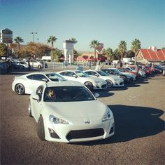 A ton of Scion FR-S at the SEMA Show! This is just 1/100 of the ones that attended!