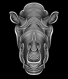 Rhino. Want this tattoo but with black out lined and filled in with a new aztec-y, tribal print.