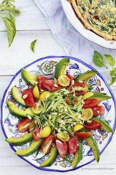 Raw Zucchini Salad Recipe - Yummy Mummy Kitchen