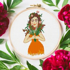 Mother's Day is just around the corner! Every mother appreciates a handmade gift made with love - get this adorable colorful cross stitch pattern and make your mama proud! Cross Stitch Patterns, Crochet Patterns, Mother Gifts, Handmade Gifts, Etsy Seller, Corner, Colorful, Make It Yourself, Creative