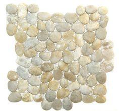 Florence Sand Tumbled Pebble Mosaic Tile