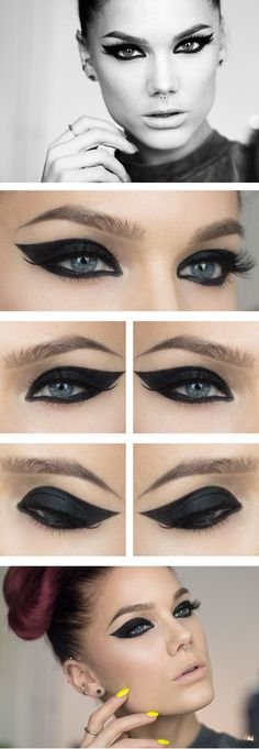 Dramatic eyeliner ♥ Linda Hallberg - incredible makeup artist. Very inspiring -- from her daily makeup blog. | Inspiration for upcoming projects by Adagio Images at www.adagio-images.com/modeling or www.facebook.com/adagioimages | #makeup #makeupinspiration ♥
