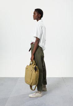 Sports Trousers, Cropped Trousers, Off White Shop, Shop Apron, Military Belt, Navy Shop, Safari Shirt, Margaret Howell, Color Khaki