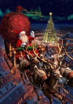 Noel Christmas mobile background - ⛄ Christmas wallpaper for IPh . Christmas Scenery, Noel Christmas, Father Christmas, Vintage Christmas Cards, Christmas Pictures, Winter Christmas, Christmas Ornaments, Xmas, Holiday