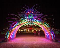 LED lights festival archway