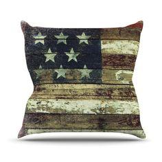"""Robin Dickinson """"Oh Beautiful"""" Outdoor Throw Pillow"""