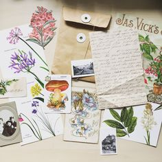 Victorian journal kit - lost in the Garden Vintage Lettering, Ephemera, Vintage Photos, Have Fun, Lost, Victorian, Journal, This Or That Questions, Studio