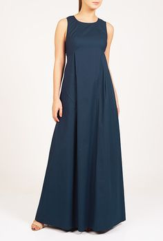 I <3 this Seamed empire cotton poplin maxi dress from eShakti