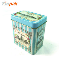 Vintage tea tin boxes with Customized printing based on your requirements