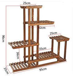 Details about Heavy Duty Wood Plant Stand Shelf Indoor/Outdoor Flower 10 Pot Rack Holder Heavy Duty Wood Plant Stand Shelf Indoor/Outdoor Flower 10 Pot Rack Holder Wooden Plant Stands, Diy Plant Stand, Indoor Plant Stands, Wooden Display Stand, Indoor Outdoor, Indoor Plants, Balcony Plants, Pot Plants, Outdoor Ideas