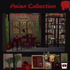 Asian Collection at Tkangie – Armchair Traveler via Sims 4 Updates