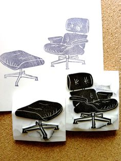 the early vitra made for herman miller shell chair labels eames