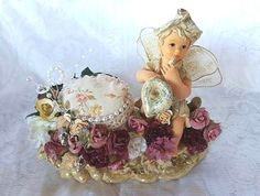 Gorgeous Large Fairy Pin Cushion Christmas by LindyLoosTreasures