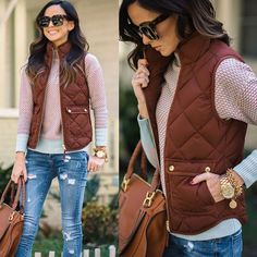 Womens Slim Down Cotton Jacket Sleeveless Puffer Vest Waistcoat Winter Warm Coat
