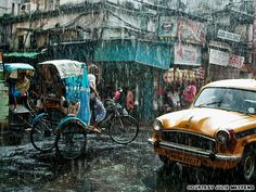 India, Kolkata, Monsoon season