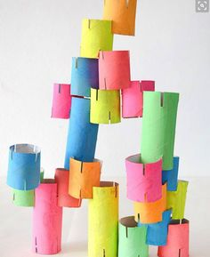 Make your own cardboard tube construction toy! Make your own cardboard tube construction toy!,Kids Toys Make your own cardboard tube construction toy! Kids Crafts, Projects For Kids, Diy For Kids, Crafts Cheap, Stem Projects, Diy Toys For Toddlers, Art Games For Kids, Engineering Projects, Spring Crafts For Kids