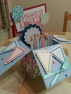 Card in a box made by Susan Greer